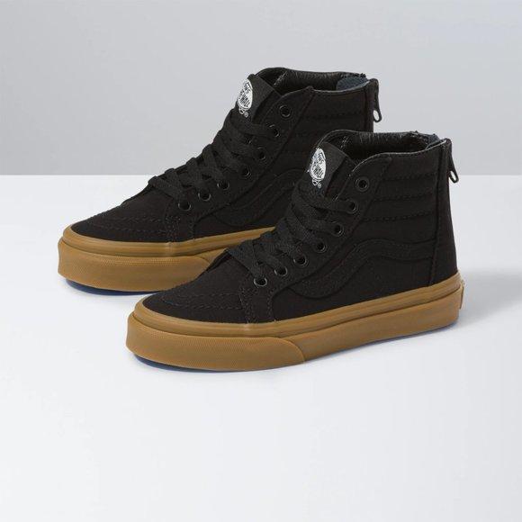 Vans Kids Canvas Gum Sk8-Hi Zip Shoes